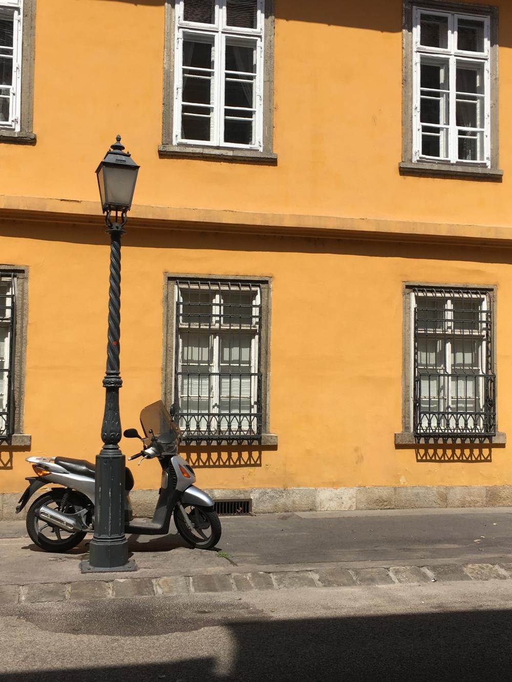 Yellow wall, Budapest, Hungary