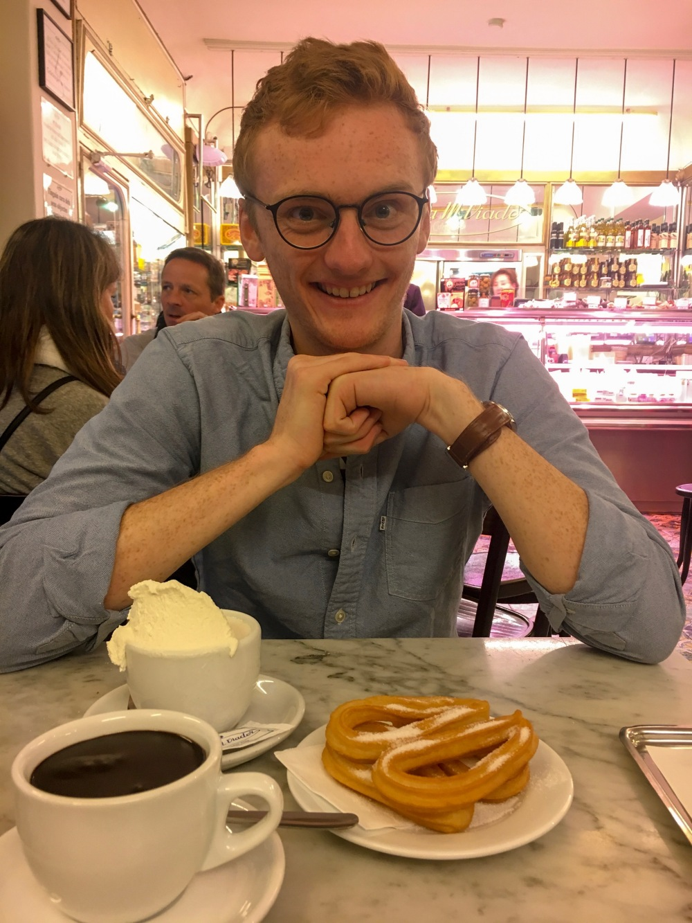 Churros and chocolate at Granja M. Viader