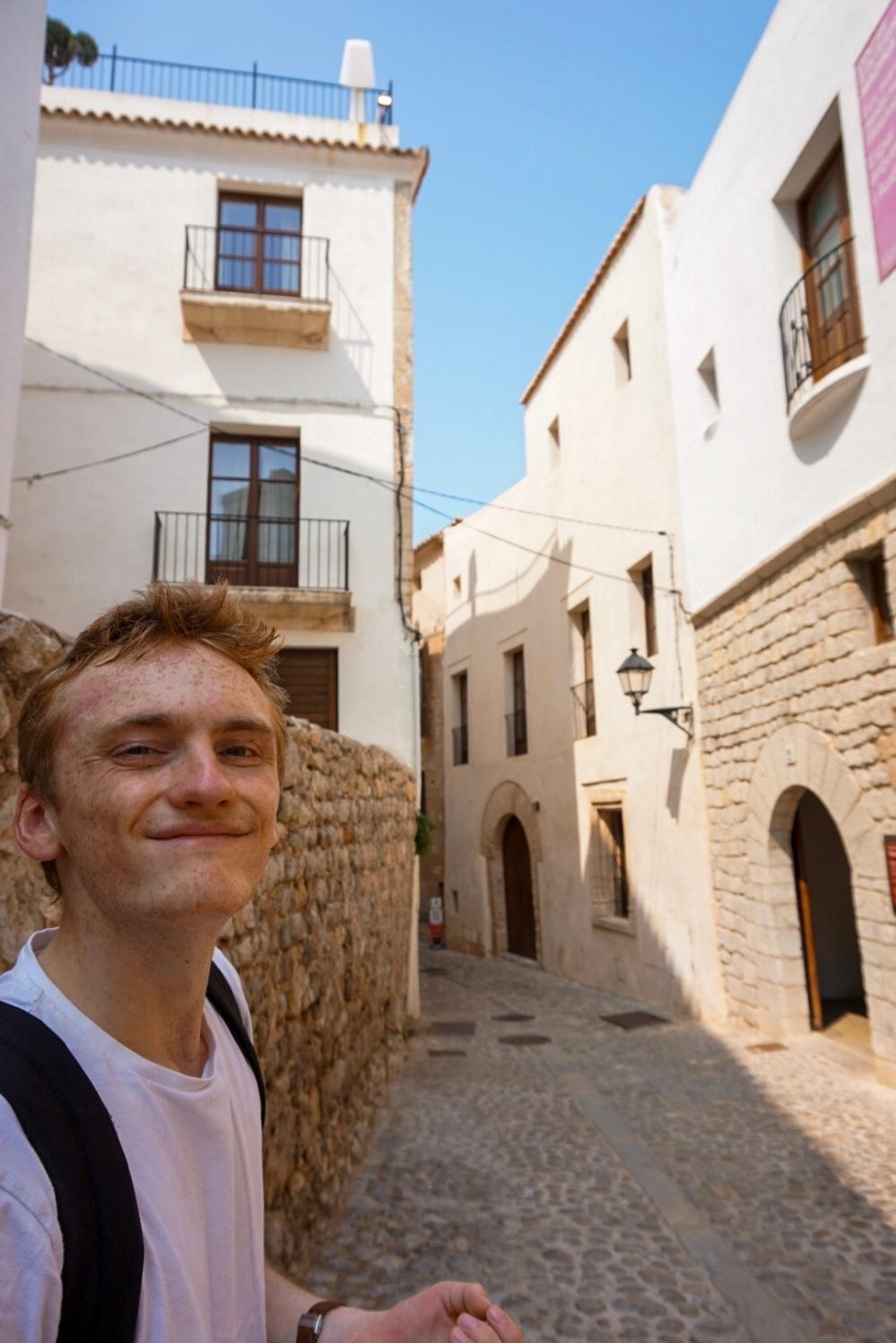 Ibiza Town narrow street