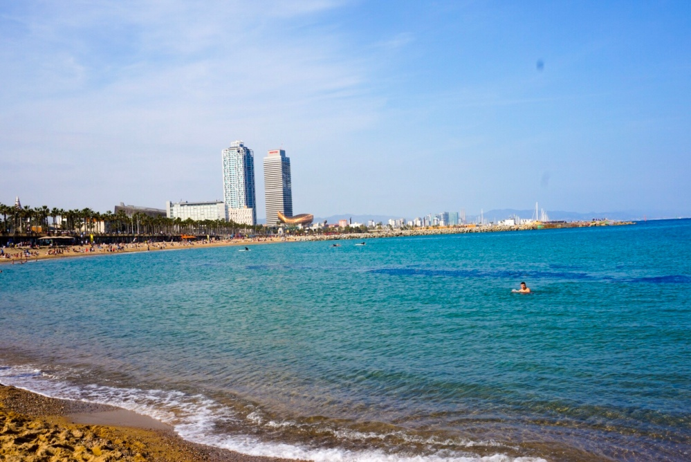 Barcelona beach and sea