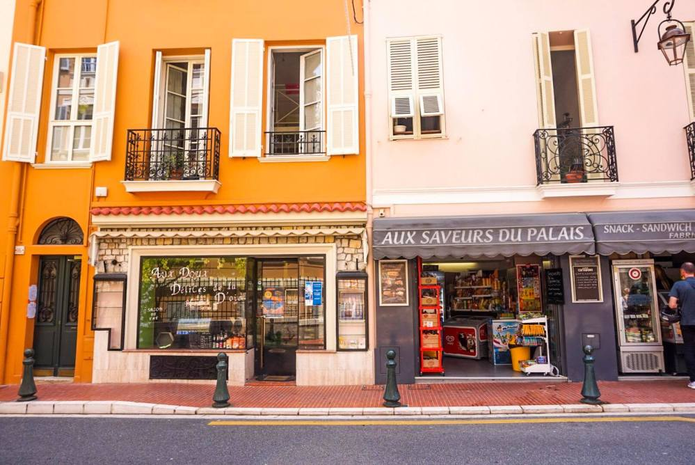 Shop fronts, Nice, France.