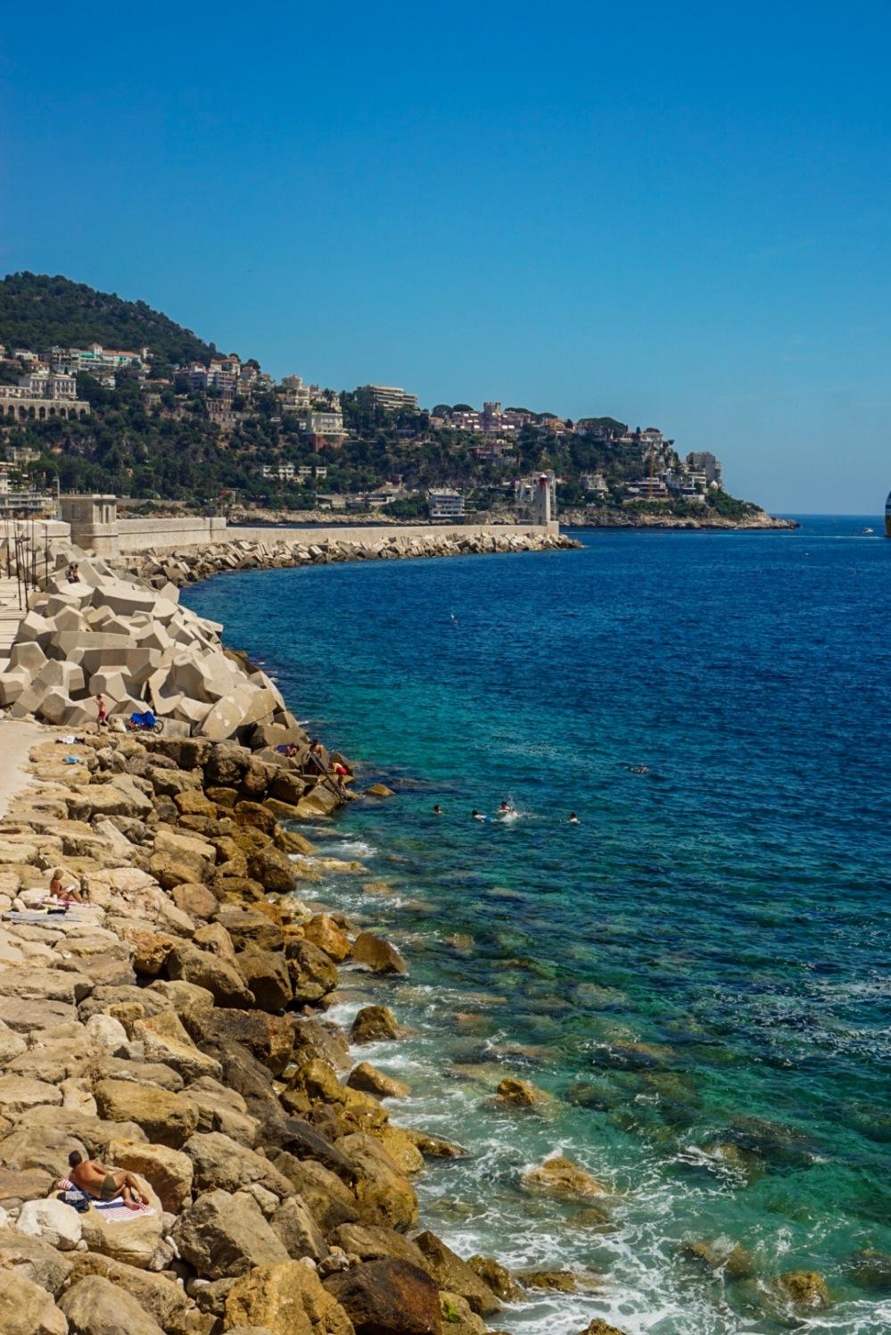 Blue sea, Nice, France